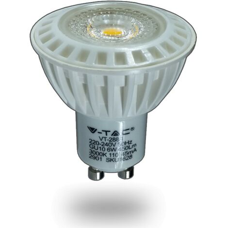 Bombilla LED GU10 6W 450Lm 110º 3000K