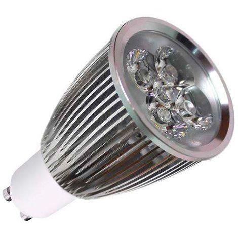 Bombilla LED GU10 6W, high power, Regulable, Blanco frío, Regulable