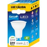 Bombilla LED GU10, 7W 110º 500 lumenes, Luz cálida