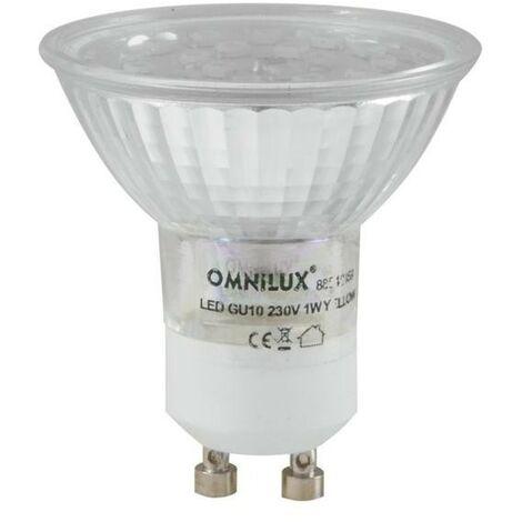 Bombilla LED GU10 AZUL 230V 18led