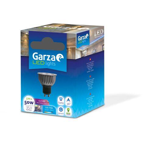 Bombilla LED GU10 COB 5W 350lm Ángulo 36º Luz fría