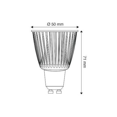 Bombilla LED GU10 COB 5W, Blanco frío