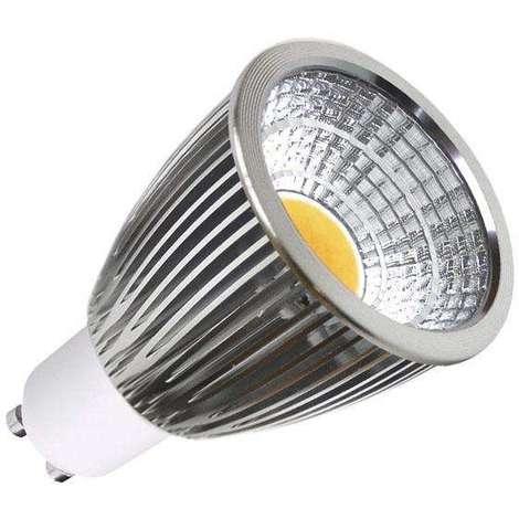 Bombilla LED GU10 COB 7W, Blanco frío