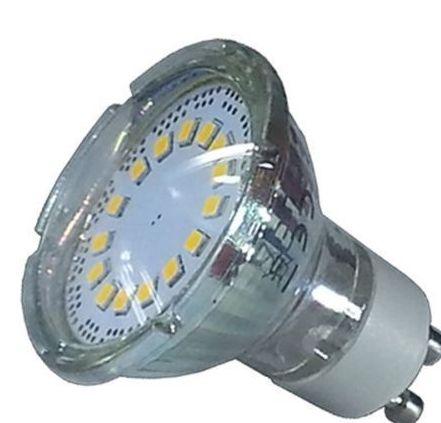 Bombilla LED GU10 cristal 3wí25W 110í Luz Fría 200Lm
