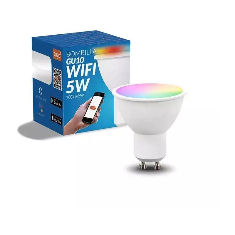 Iluminashop - Bombilla LED Inteligente Smart GU10 Dimable RGB+CCT 5W 500LM WiFi Compatible con Alexa y Google Home RGB+3000+4000+6000