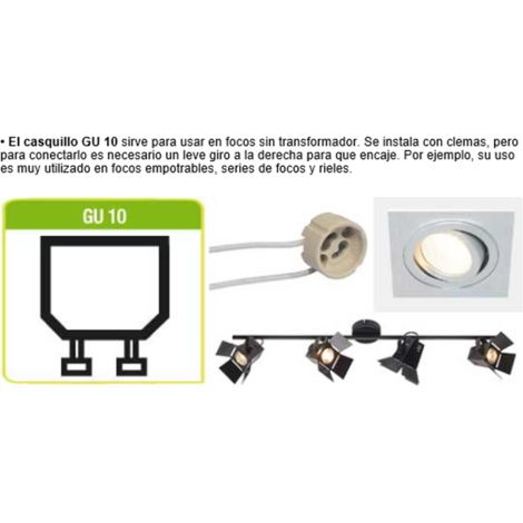 Bombilla LED GU10 regulable en intensidad on/off luz neutra 5W, 110º, 400 lumenes (equivale a 50W)