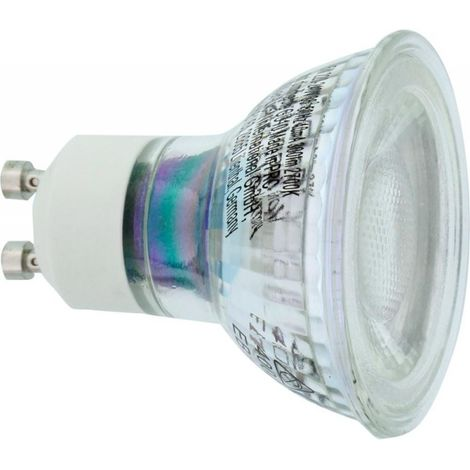 Bombilla LED GU10 vidrio 5W 300lm (por 4)