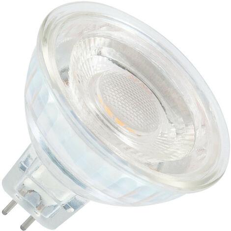 Bombilla LED GU5.3 MR16 12V SMD Cristal 38º 5W