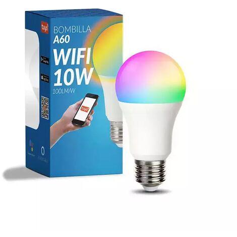 Bombilla LED Inteligente Smart E27 A60 Dimable CCT+RGB 10W WiFi Compatible con Alexa y Google Home RGB+3000+4000+6000 | IluminaShop