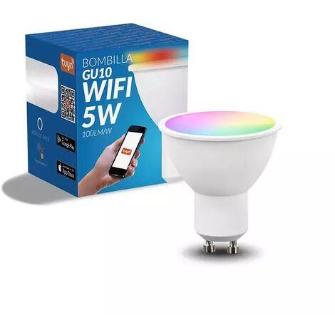 Bombilla LED Inteligente Smart GU10 Dimable RGB+CCT 5W 500LM WiFi Compatible con Alexa y Google Home RGB+3000+4000+6000 | IluminaShop