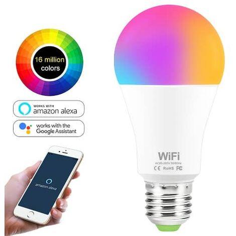 Bombilla LED inteligente WIFI RGB E27 Multicolor 10W