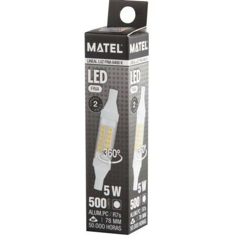 Bombilla Led Lineal R7S 5W 500Lm 78mm Matel