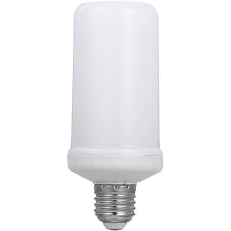 Bombilla LED llama Efecto de luz de iluminacion 4 Modos Modo lampara llameante inducido gravedad bajo E27 para el hogar Decoracion del partido de Halloween de Navidad Christams vacaciones vocacion portatil