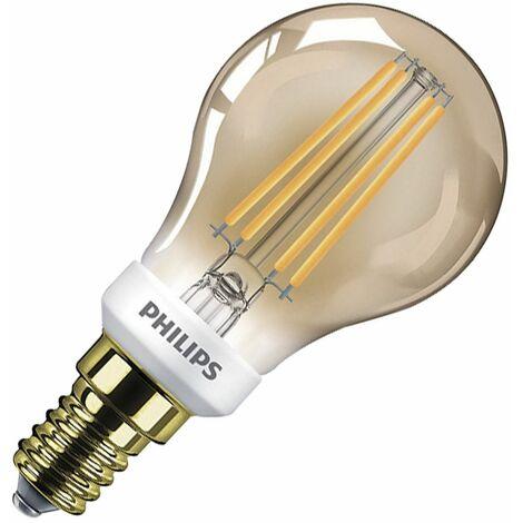 Bombilla LED Luster E14 Casquillo Fino P45 5 W Gold Blanco Cálido 2000K - 2500K