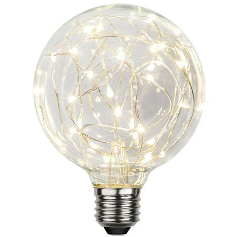 Bombilla LED Micro LED E27 G95 1,5W Blanco cálido