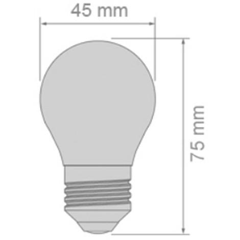 Bombilla LED Milky E27 (4.5W)