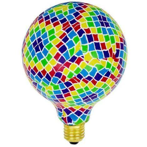 Bombilla LED Globo E27 G130 diseño mosaico BARCELONA