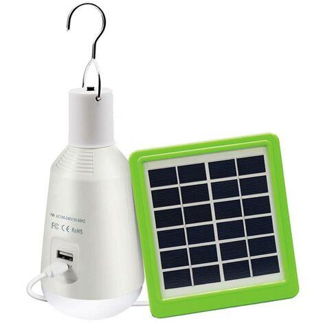 Bombilla LED Multifunción con Panel Solar 7W 8000ºK | Blanco frío 8000K