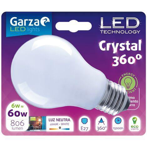 Bombilla LED Opal Estándar 6W, 806 lumenes, E27, 360º, Luz Neutra (equivale a 60W)