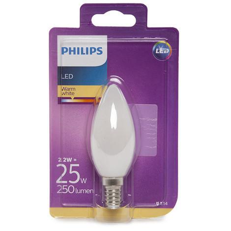Bombilla LED Philips E14 B35 2,2W 250Lm Blanco Cálido | Blanco Cálido (PH-8718696706237-WW)