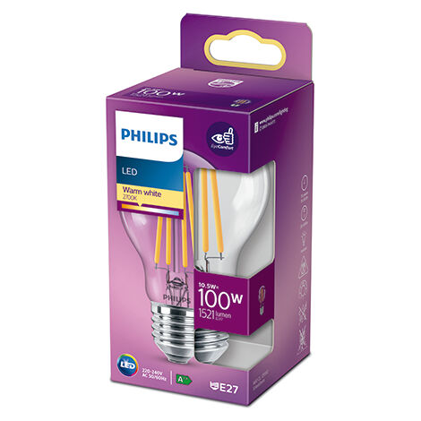 Bombilla LED Philips E27 A60 10.5W 1521Lm 2700K [PH-929002026155] (PH-929002026155)