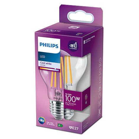 Bombilla LED Philips E27 A60  10.5W 1521Lm 4000K [PH-929002026255] (PH-929002026255)