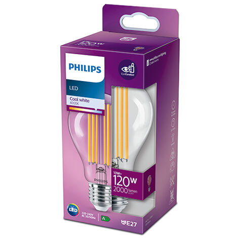 Bombilla LED Philips E27 A60 13W 2000Lm 4000K [PH-929002371601] (PH-929002371601)