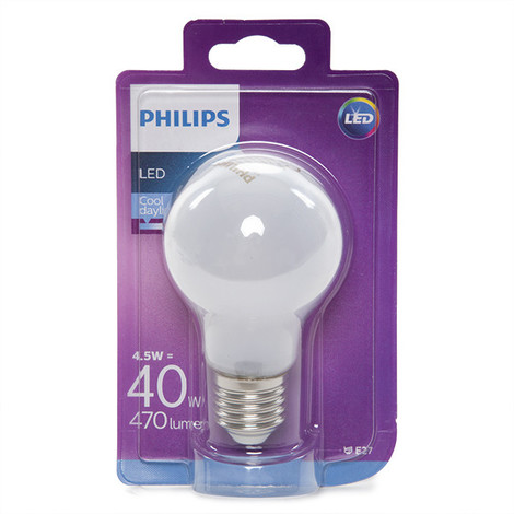 Bombilla LED Philips E27 A60 4,5W 470Lm Blanco Frío | Blanco Frío (PH-8718696740705-CW)