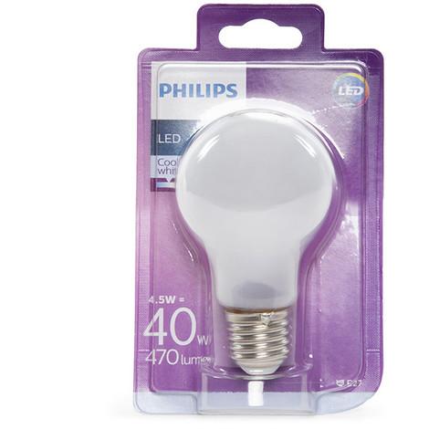 Bombilla LED Philips E27 A60 4,5W 470Lm Blanco Natural | Blanco Natural (PH-8718696705490-W)