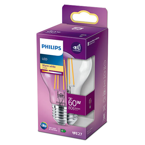 Bombilla LED Philips E27 A60 7W 806Lm 2700K [PH-929001387395] (PH-929001387395)