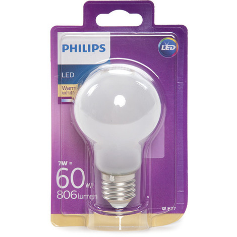 Bombilla LED Philips E27 A60 7W 806Lm Blanco Cálido | Blanco Cálido (PH-8718696576632-WW)