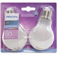 Bombilla LED Philips E27 A60 7W 806Lm Blanco Frío (2 Unidades) | Blanco Frío (PH-8718696740583-CW)