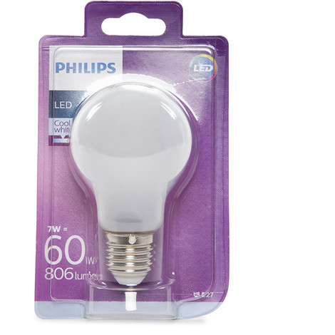 Bombilla LED Philips E27 A60 7W 806Lm Blanco Natural | Blanco Natural (PH-8718696703335-W)