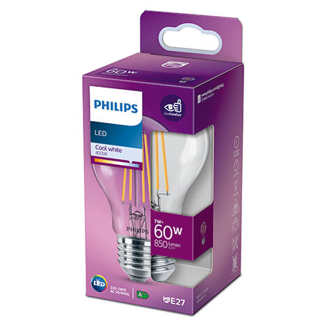 Bombilla LED Philips E27 A60 7W 850Lm 4000K [PH-929001815053] (PH-929001815053)