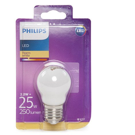 Bombilla LED Philips E27 P45 2,2W 250Lm Blanco Cálido | Blanco Cálido (PH-8718696706312-WW)