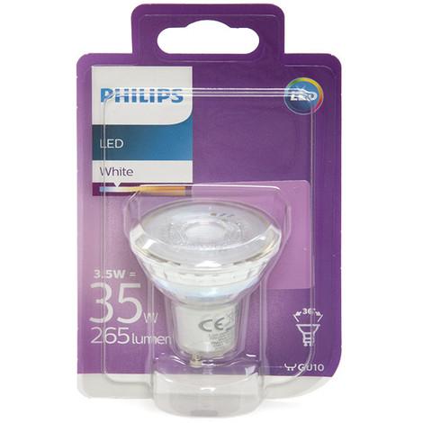Bombilla LED Philips GU10 36D 3,5W 255Lm Blanco Natural | Blanco Natural (PH-8718696562680-W)