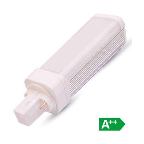 Bombilla LED PL Aluminio G24 6W 120° Temperatura de color - 4500K Blanco natural