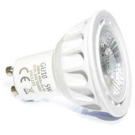 Bombilla LED profesional GU10 5.5 Watts COB EPISTAR bombilla LED de última generación