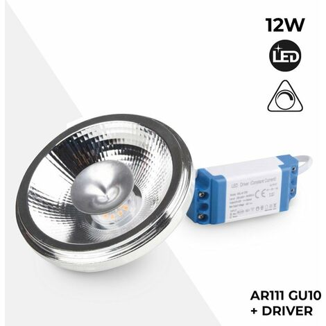 Bombilla LED QR70 7W regulable con driver externo | Blanco Cálido