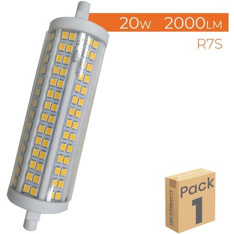 Bombilla LED R7S 15W 118mm 1200LM 360º Regulable A++   Blanco Frío 6500K - Pack 1 Ud. - Blanco Frío 6500K