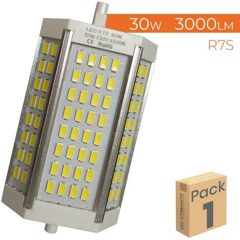 Bombilla LED R7s 30W 118mm 3000LM 360º Regulable A++ | Pack 2 Uds. - Blanco Frío 6500K