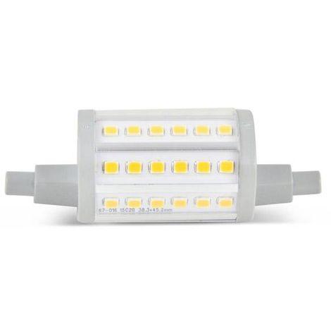 Bombilla LED R7S Lineal 78mm 7W 230V 800lm | Blanco Cálido