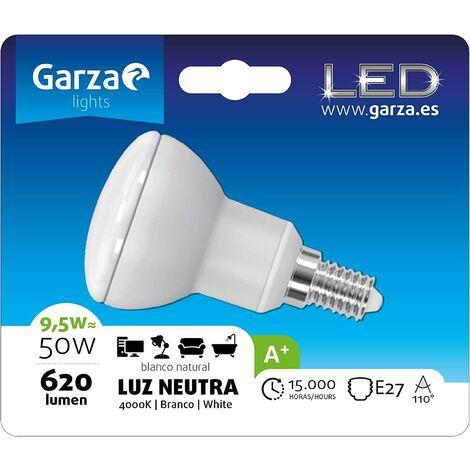 Bombilla LED reflectora R63 9.5W E27 110º620 lumenes 40K Luz neutra