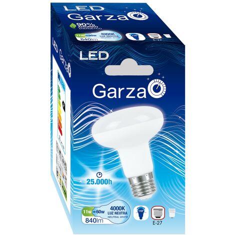 Bombilla LED reflectora R80 11W 840 lumenes, 110º, E27 Luz Neutra