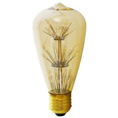 Bombilla LED retro Edison E27 ST64 FIREWORKS 2W | Ambar
