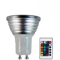 Bombilla LED RGB Spotlight GU10 5W Equi.25W 200lm 25000h