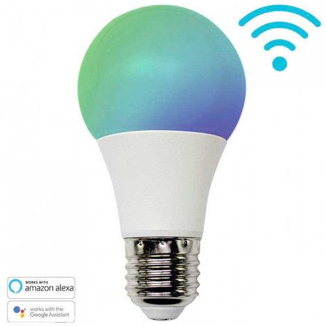 Bombilla LED RGBWW WiFi E27 con Adaptador E14 10W Equi.100W 806lm vía Smartphone/APP 7hSevenOn Home