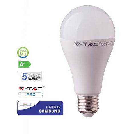 Bombilla LED Samsung A65 E27 17W 200° V-TAC PRO