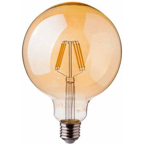 Bombilla LED Samsung Globo Filament Amber Cover G125 E27 2200K 6W 300° V-TAC PRO