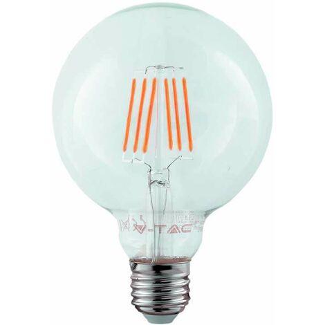 Bombilla LED Samsung Globo Filamento G95 E27 2700K 6W 300° V-TAC PRO